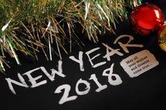 Nuovo anno 2018 con la decorazione fotografia stock
