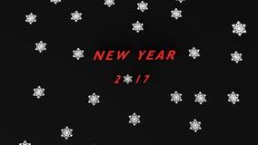 Nuovo anno con neve Immagini Stock