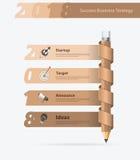Nuovo anno creativo 2018 di successo di affari di progettazione della matita di vettore Fotografia Stock