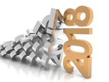 Nuovo anno 2018, 3d Fotografie Stock Libere da Diritti
