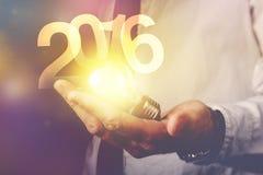 Nuovo anno d'esercizio 2016 felice Fotografia Stock Libera da Diritti