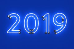 Nuovo anno 2019 - 3D ha reso l'immagine Fotografia Stock