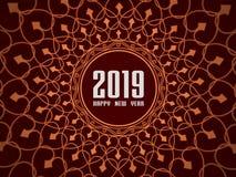 Nuovo anno 2019 - 3D ha reso l'immagine Fotografie Stock Libere da Diritti