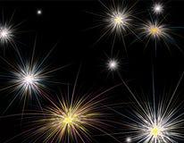 Nuovo anno dei fuochi d'artificio Immagini Stock Libere da Diritti