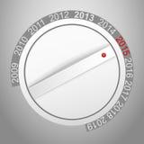 Nuovo anno del bottone della manopola Immagine Stock