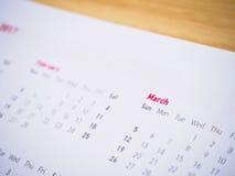 Nuovo anno 2017 del calendario Fotografie Stock Libere da Diritti