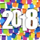 nuovo anno 2018 del fondo delle ghirlande Fotografia Stock