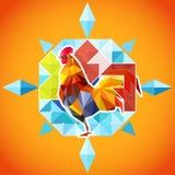 Nuovo anno del gallo del fuoco Fotografia Stock