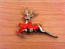 Nuovo anno del giocattolo della renna di natale di natale Fotografia Stock Libera da Diritti