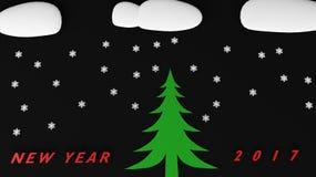 Nuovo anno 2017 del pupazzo di neve Immagini Stock Libere da Diritti