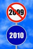 Nuovo anno del segno rotondo Immagini Stock Libere da Diritti
