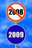 Nuovo anno del segno rotondo Immagini Stock