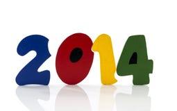Nuovo anno 2014 del testo Immagini Stock