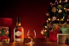 Nuovo anno del whiskey Fotografia Stock Libera da Diritti
