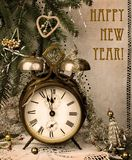 Nuovo anno dell'annata Immagini Stock Libere da Diritti