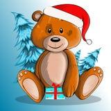 Nuovo anno dell'orso Fotografia Stock