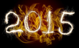 Nuovo anno 2015 della data Fotografie Stock Libere da Diritti