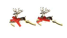 Nuovo anno della decorazione del giocattolo della renna di natale di natale Fotografie Stock