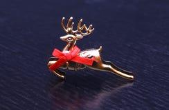 Nuovo anno della decorazione del giocattolo della renna di natale di natale Fotografia Stock Libera da Diritti