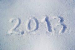 Nuovo anno della neve 2013 Fotografia Stock Libera da Diritti