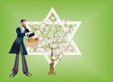 Nuovo anno di alberi, Seder che Bi-Shvat. Immagini Stock Libere da Diritti