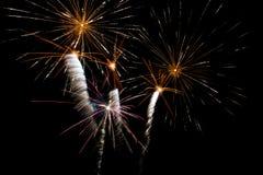 Nuovo anno di celebrazione del fuoco d'artificio Fotografia Stock Libera da Diritti