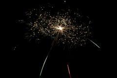 Nuovo anno di celebrazione del fuoco d'artificio Fotografia Stock