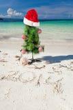 Nuovo anno di estate sulla spiaggia Immagini Stock Libere da Diritti