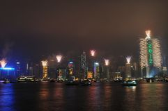 Nuovo anno di Hong Kong Fotografia Stock