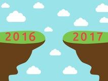 Nuovo anno 2017 di inizio illustrazione di stock