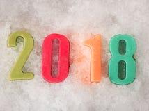 Nuovo anno 2018 di numero Fotografia Stock Libera da Diritti