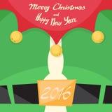Nuovo anno di Santa Beard Merry Christmas Happy Fotografie Stock Libere da Diritti