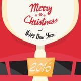 Nuovo anno di Santa Beard Merry Christmas Happy Immagini Stock Libere da Diritti