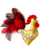 Nuovo anno 2017 di simbolo di gallo Mestiere fatto a mano Immagini Stock Libere da Diritti