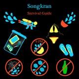 Nuovo anno di Songkran in Tailandia illustrazione vettoriale