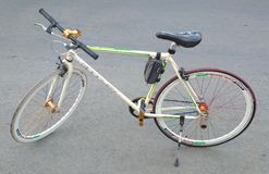 Nuovo anno di transportasi di sport del bikecycle del folletto immagini stock libere da diritti