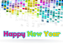 Nuovo anno - disegno grafico funky Immagini Stock