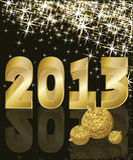 Nuovo anno dorato 2013 Immagine Stock Libera da Diritti