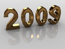 Nuovo anno dorato Fotografia Stock Libera da Diritti