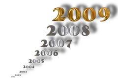 Nuovo anno dorato illustrazione di stock