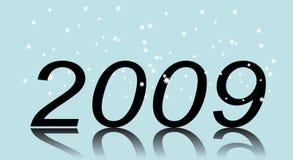 Nuovo anno. Due mila e nove illustrazione di stock