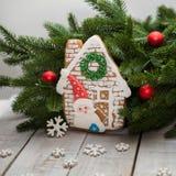 Nuovo anno e Natale del pan di zenzero, Fotografia Stock Libera da Diritti