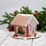 Nuovo anno e Natale del pan di zenzero, Fotografia Stock