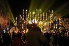 Nuovo anno Eve a Wroclaw Immagine Stock