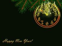 Nuovo anno felice! Fotografie Stock Libere da Diritti