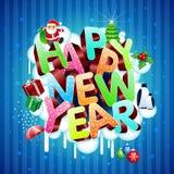 Nuovo anno felice! illustrazione di stock
