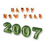 Nuovo anno felice 2007 Immagini Stock