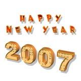 Nuovo anno felice 2007 Fotografia Stock Libera da Diritti