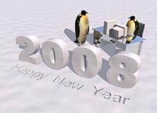 Nuovo anno felice 2008 Immagini Stock Libere da Diritti