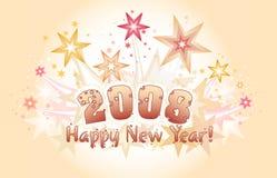 Nuovo anno felice 2008 Fotografie Stock